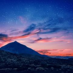 Panorama notturno del Teide