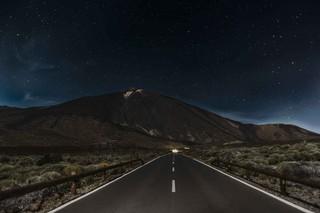 Cielo stellato nel parco del Teide